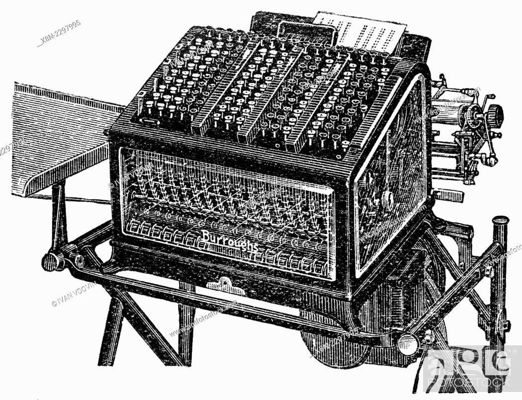 Vintage computing book-keeping machine Burroughs