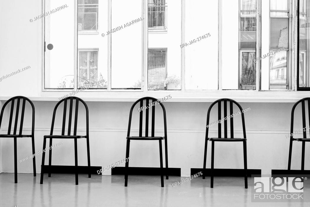 Stock Photo: Designer chairs, Henri Cartier Bresson Museum, Paris, France, Europe.