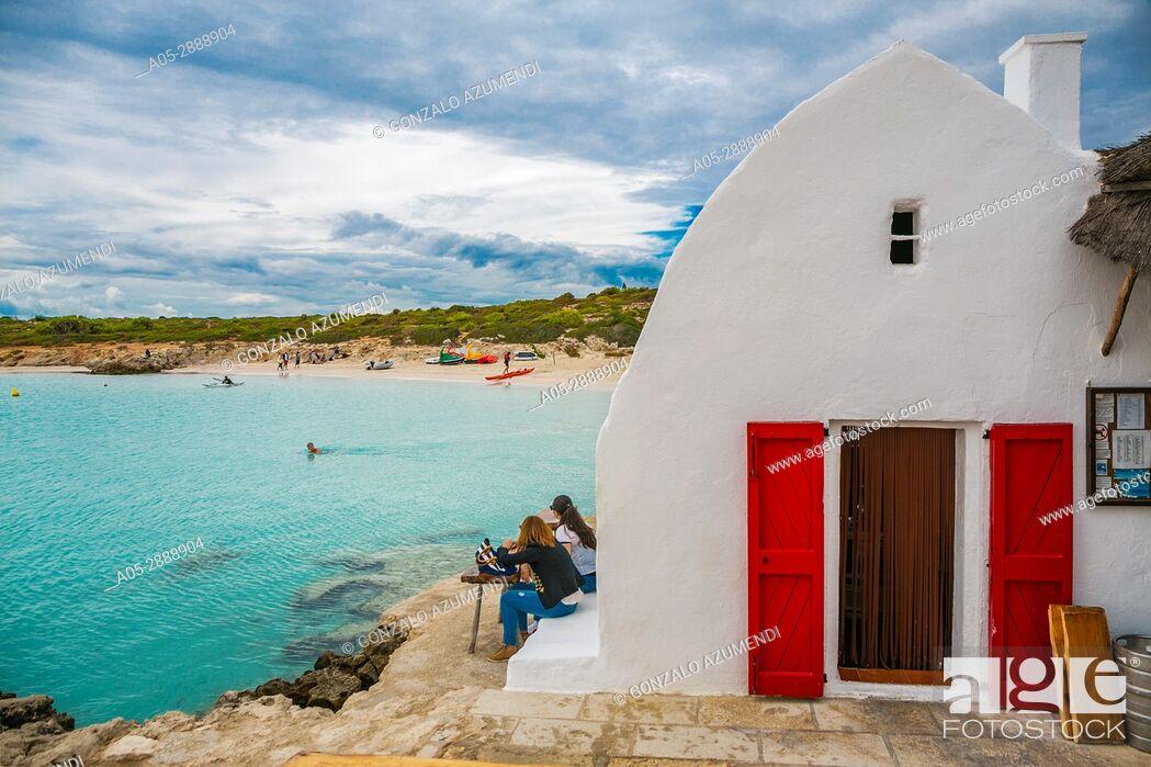 Stock Photo: Cala Binibequer Beach. Sant Lluis Municipality. Minorca. Balearic Islands. Spain.