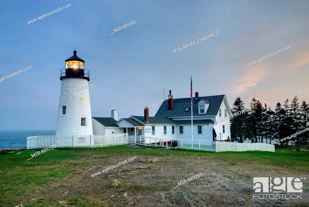 Stock Photo: Pemaquid Point Lighthouse, Bristol Maine USA.