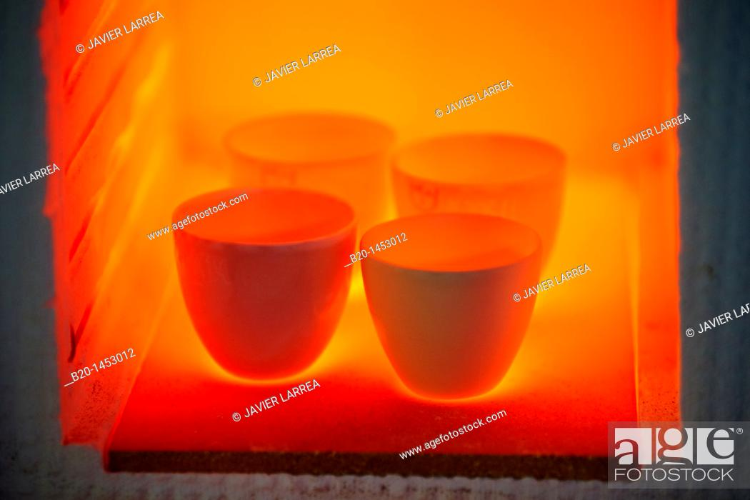 Stock Photo: Crucibles, Technology Research Center, Tecnalia Construction, CIDEMCO-Tecnalia Research & Innovation, development of new products and innovative solutions.