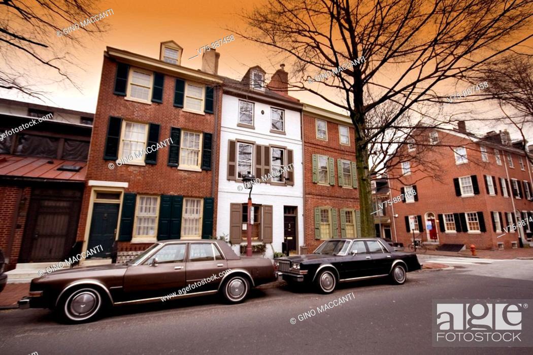 Stock Photo: Street of Philadelphia, Pennsylvania, USA.