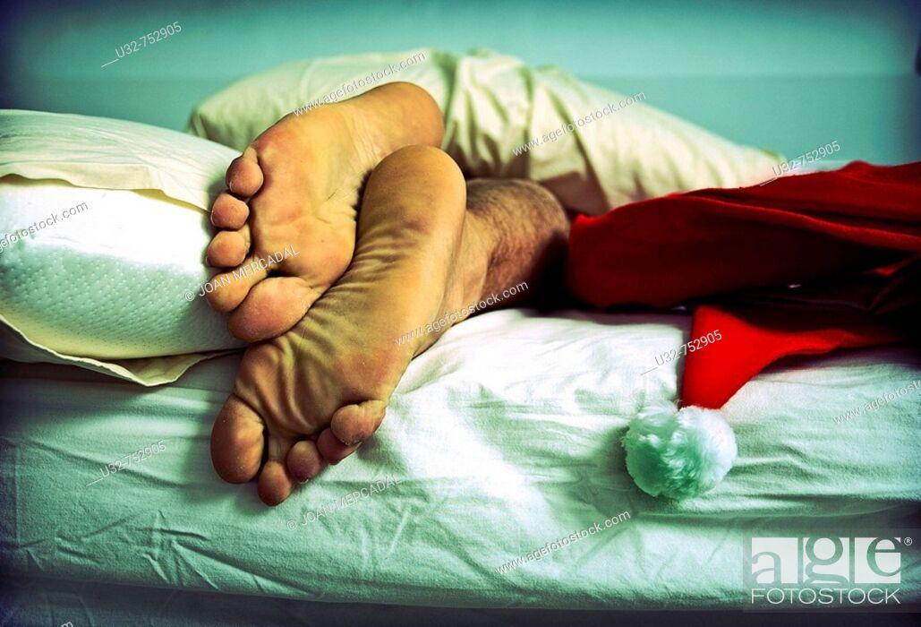 Stock Photo: Santa Claus sleeping.