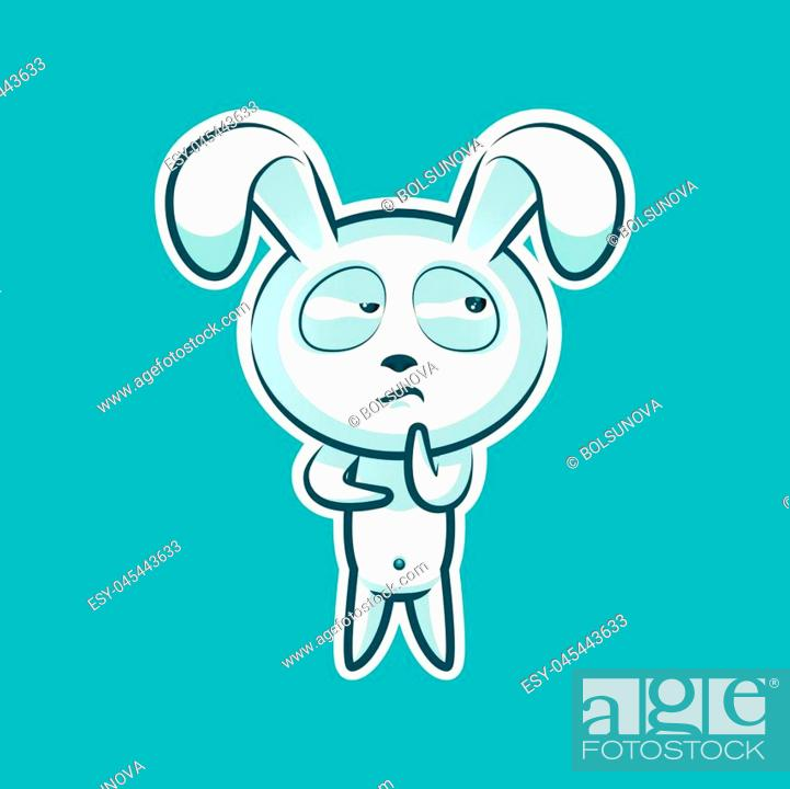 Sticker Emoji Emoticon Emotion Hmm Doubt Thinking Vector Isolated Illustration Character Sweet Stock Vector Vector And Low Budget Royalty Free Image Pic Esy 045443633 Agefotostock