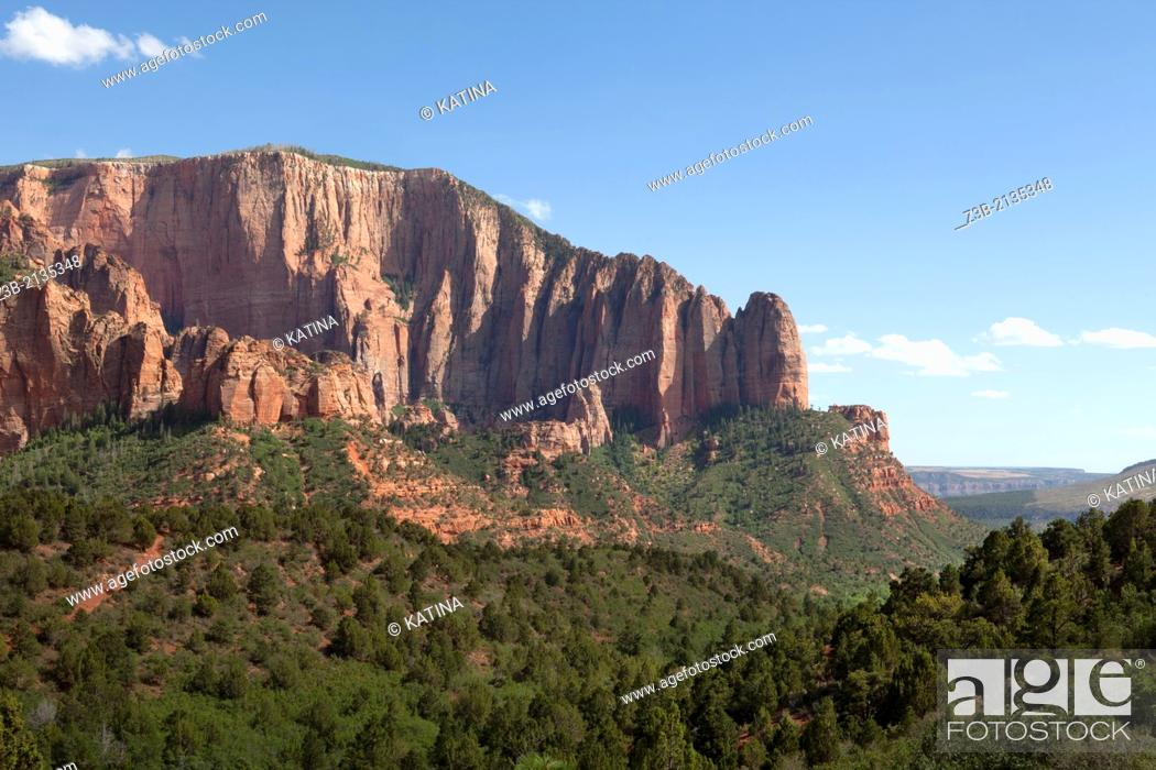 Photo de stock: The Kolob Canyons area of Zion National Park in southwestern Utah, USA.