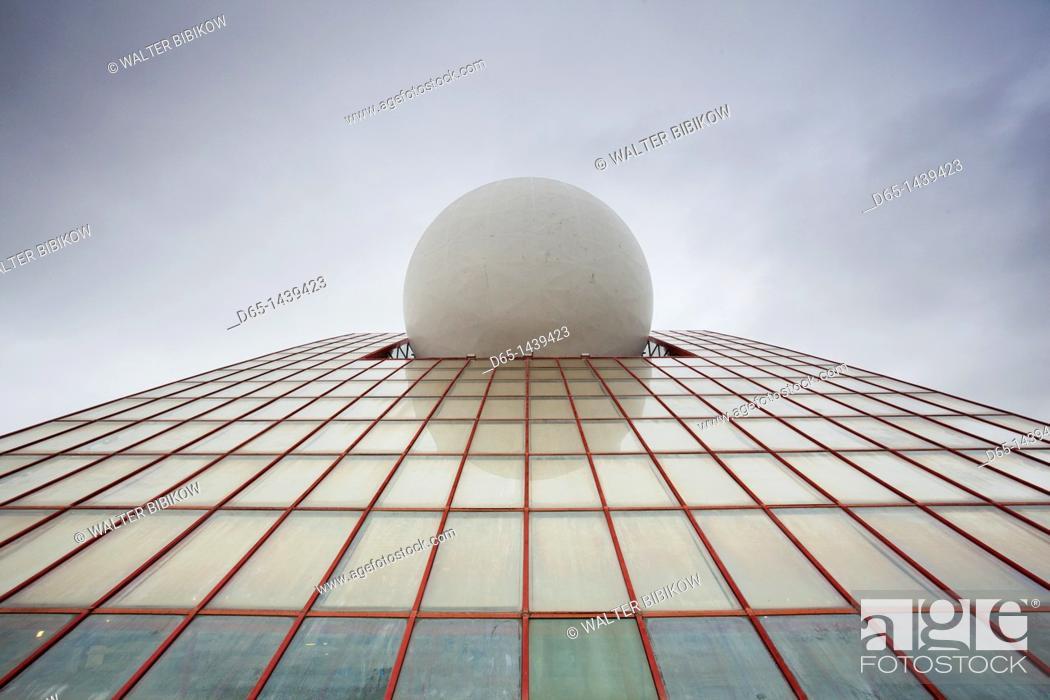 Stock Photo: France, Poitou-Charentes Region, Vienne Department, Poitiers, Futuroscope Science Park, Digital City Pavillion, exterior.