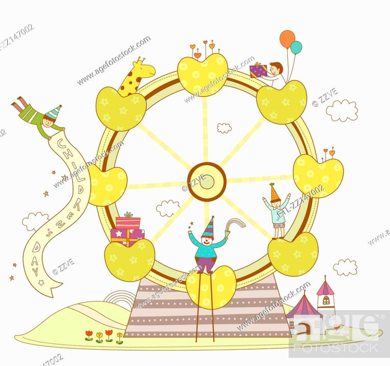 Stock Photo: Cute ferris wheel.