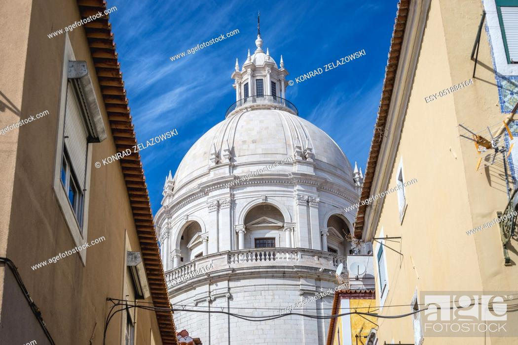 Stock Photo: Dome of National Pantheon in Lisbon, Portugal.