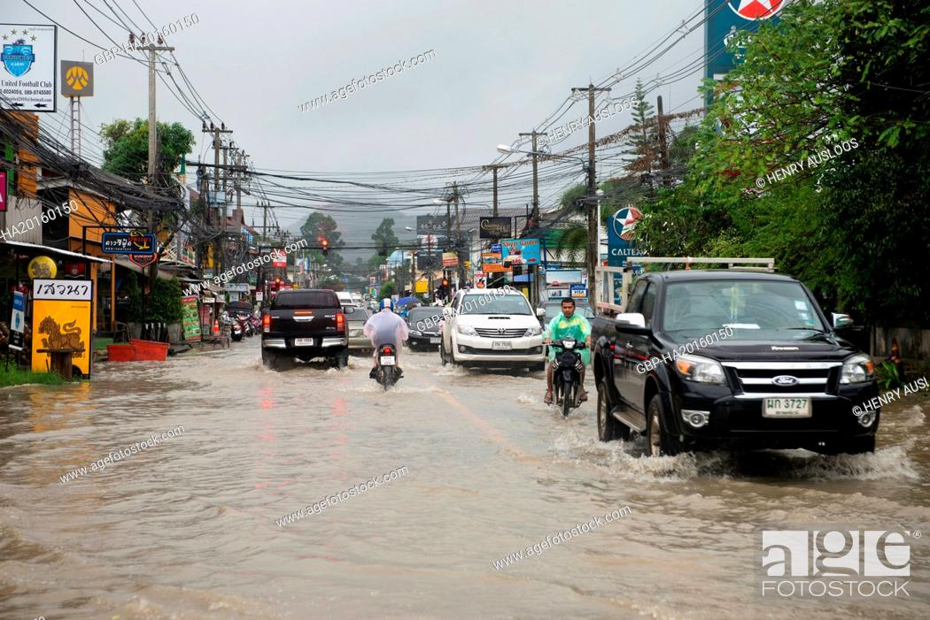 Thailand, Koh Samui, Floods, Stock Photo, Picture And Rights