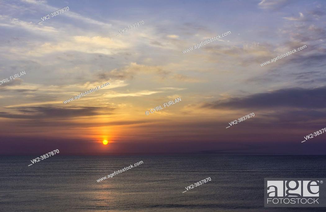 Stock Photo: Dawn virginia Beach U. S. A.