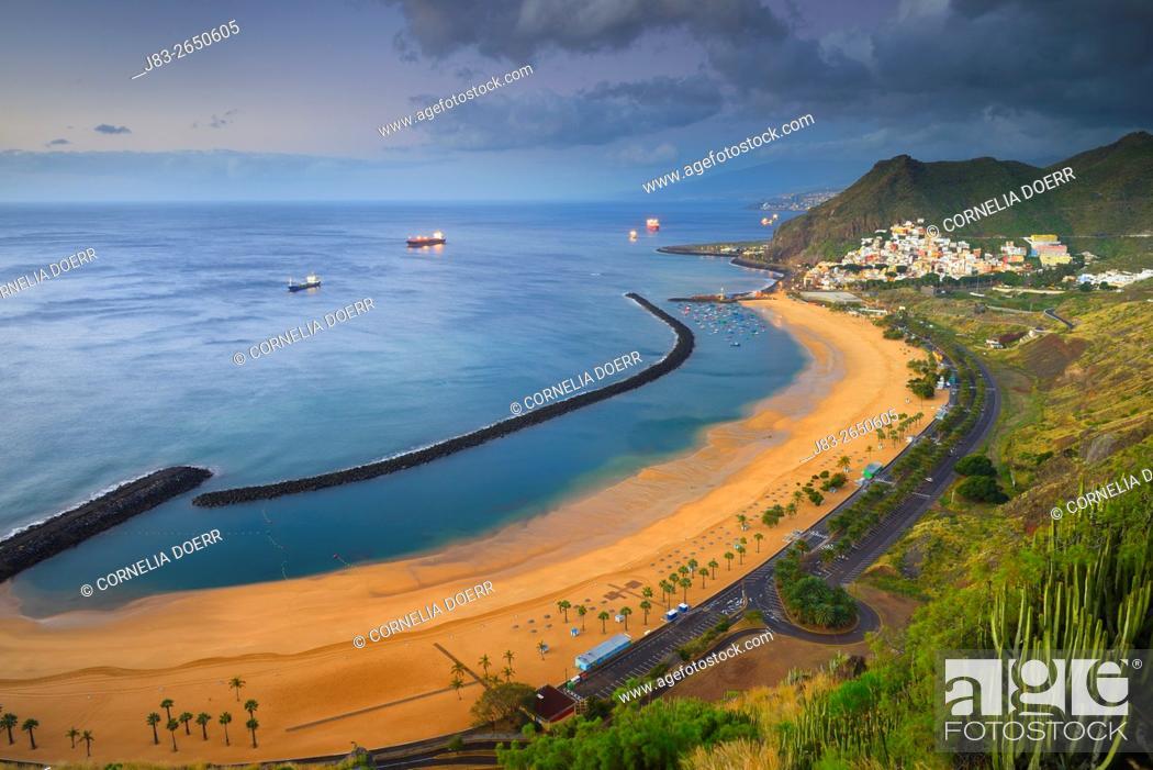 Stock Photo: Las Teresitas, Beach, San Andres, Tenerife, Canary Islands, Spain.