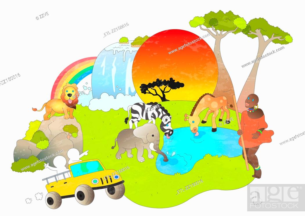 Stock Photo: Attractions of Africa.