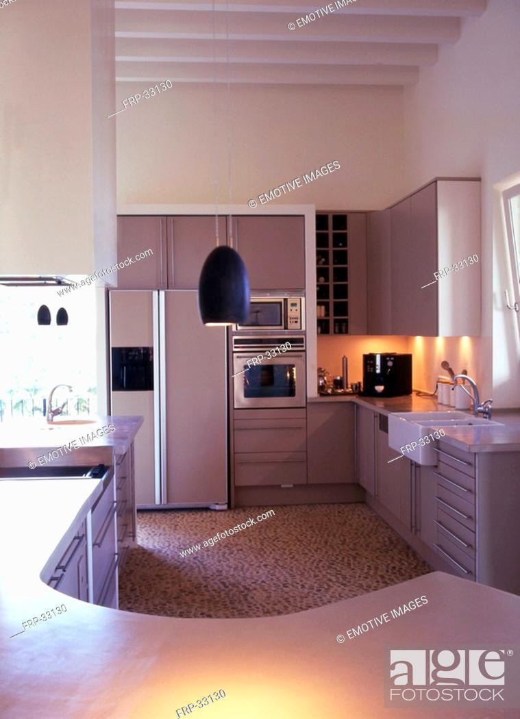 Stock Photo: Modern Kitchenette.
