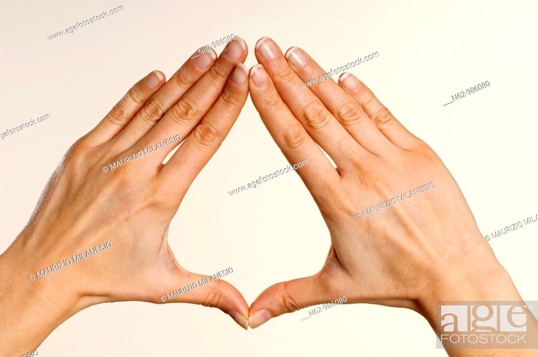 Stock Photo: Concepts expressed through sign language.