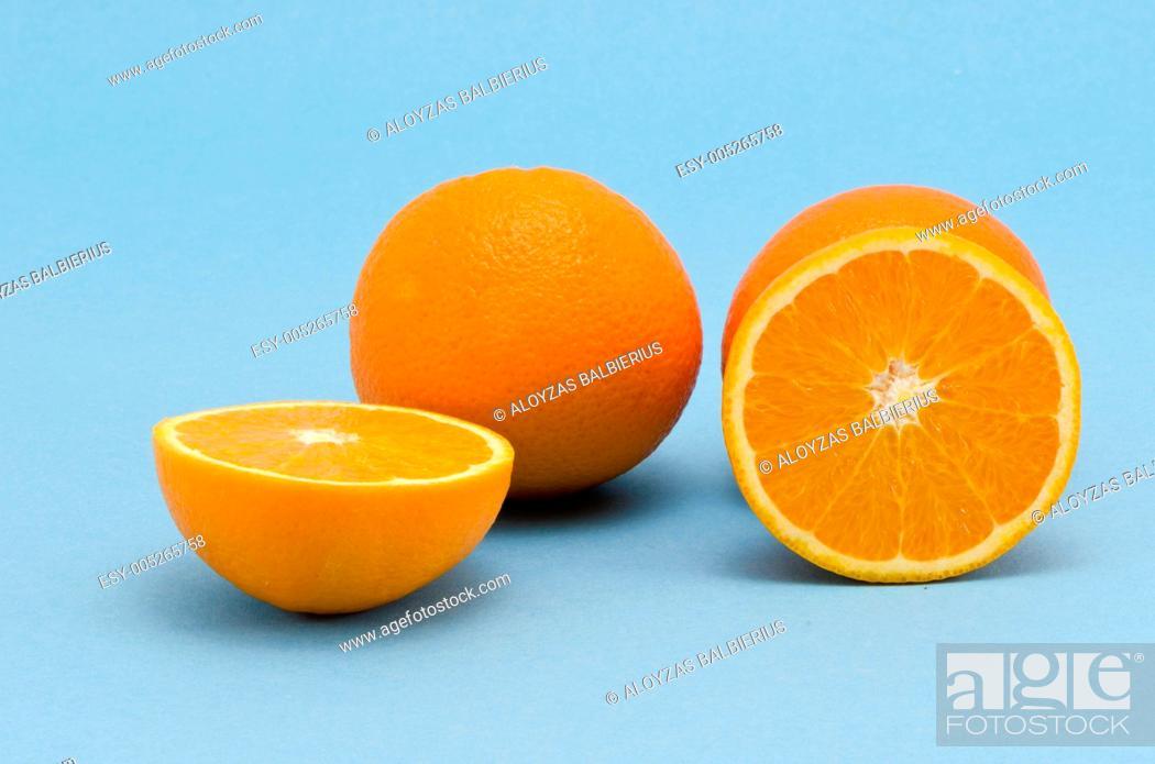 Stock Photo: orange fruits group.