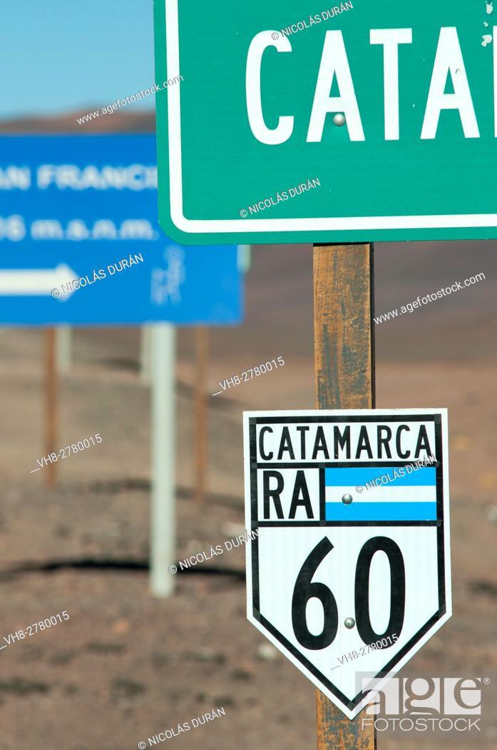 Stock Photo: Paso de San Francisco Border between Catamarca, Argentina and Andean Atacama Desert, Chile, South America.