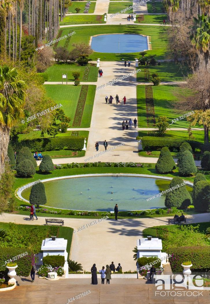 Stock Photo: Algeria, Argel City, Essai Gardens, El Hamma.