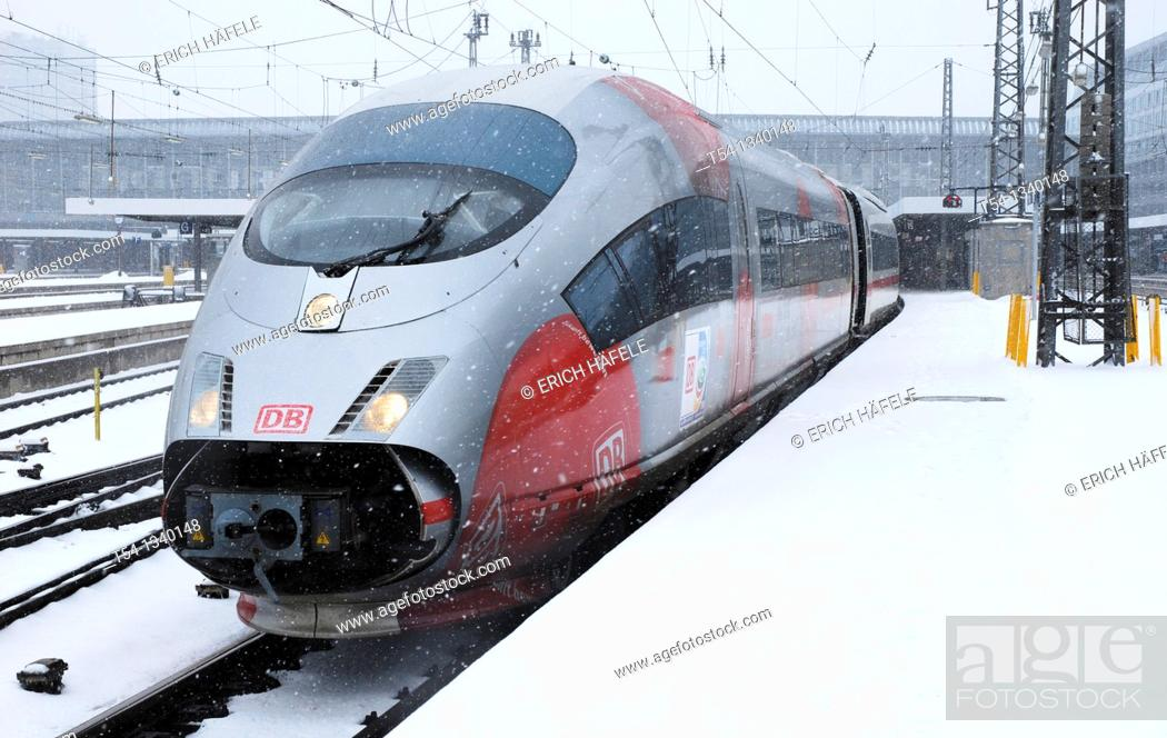 Stock Photo: Deutsche Bahn's ICE in the special coating on the women's soccer World Cup 2011 in Germany.