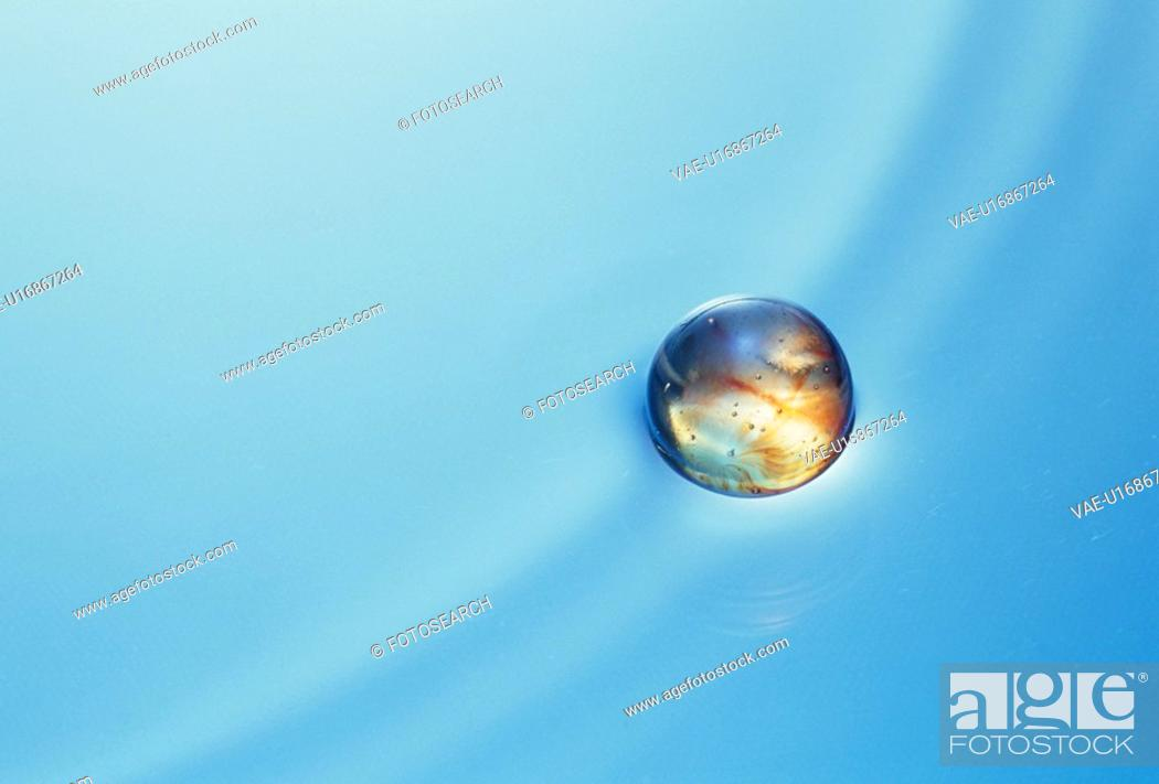 Stock Photo: The Ball Of The Water Surface.