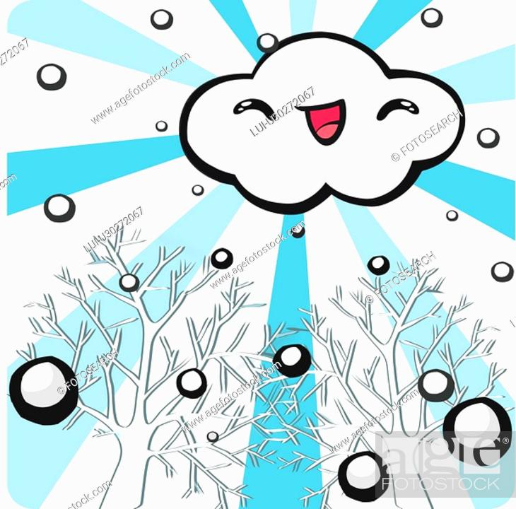 Stock Photo: people, SANTA, cloud, tree, snow, SANTACLAUS.