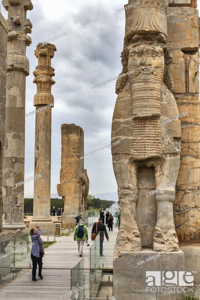 Gate Of All Nations Gate Of Xerxes Persepolis Ceremonial Capital Of Achaemenid Empire Stock Photo Picture And Rights Managed Image Pic X8n 3395258 Agefotostock