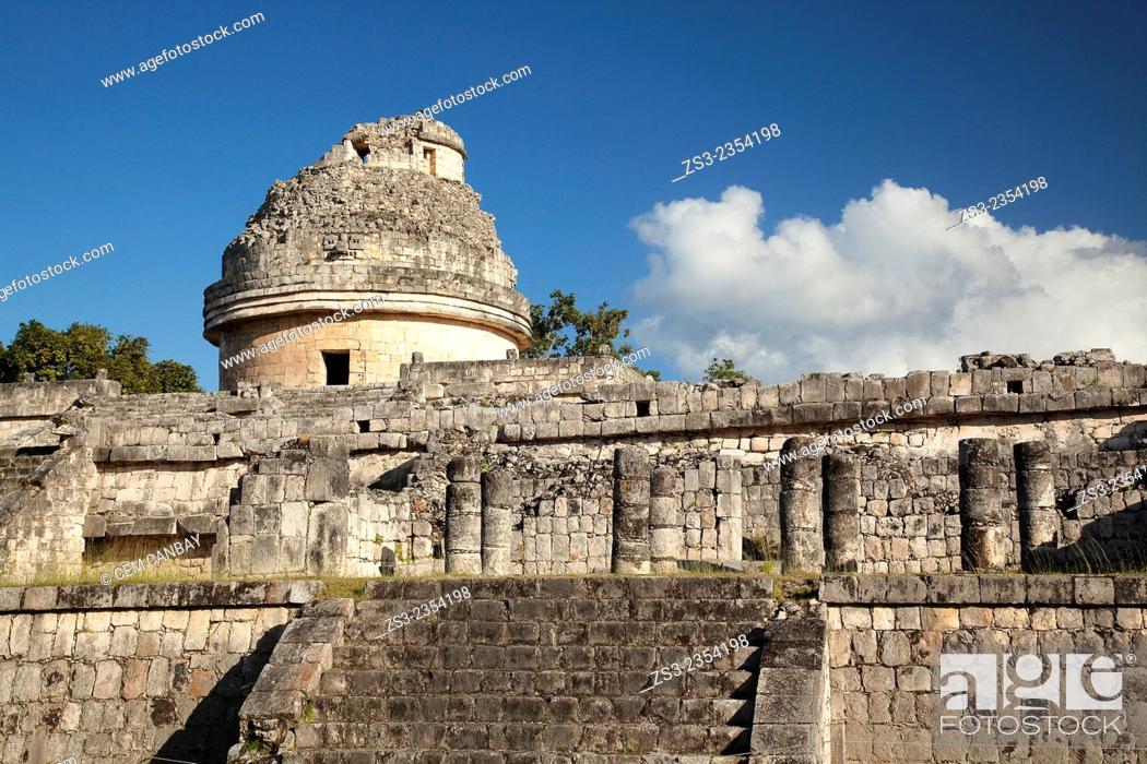 Photo de stock: Observatory-El Caracol in Chichen Itza Ruins, Chichen Itza, Yucatan Province, Mexico, Central America.