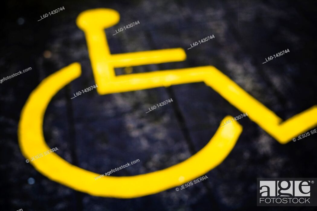 Stock Photo: Handicapped parking sign.