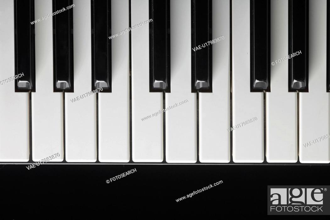 Stock Photo: Close-up of piano keys.