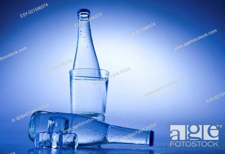 Stock Photo: Water bottle background.