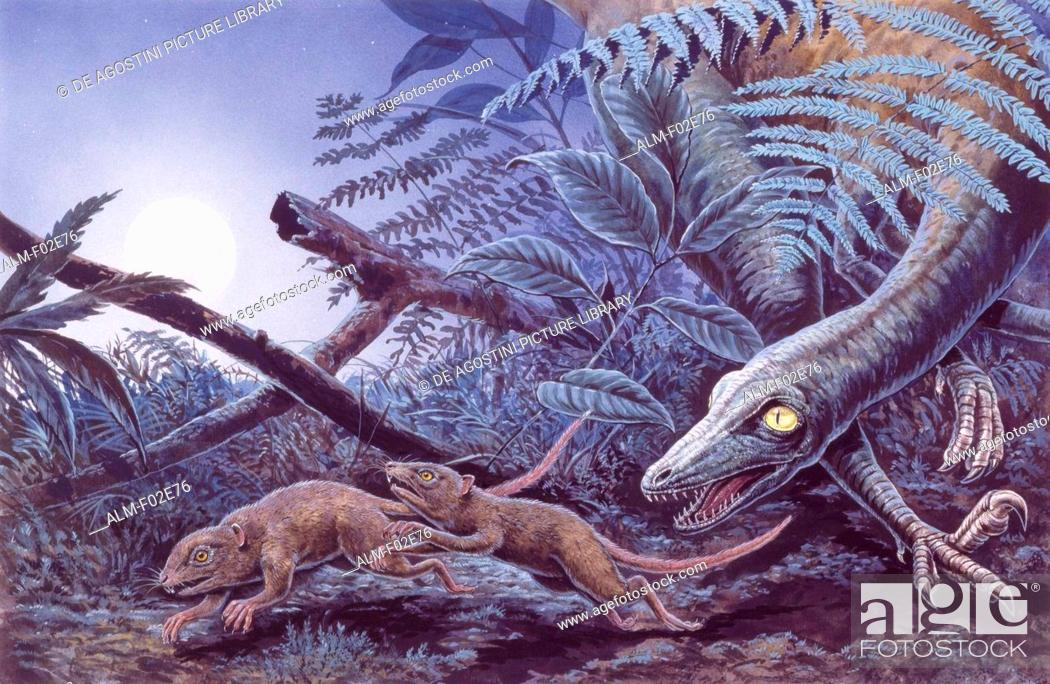 Imagen: Palaeozoology - Cretaceous period - Dinosaurs - Troodon - Art work.