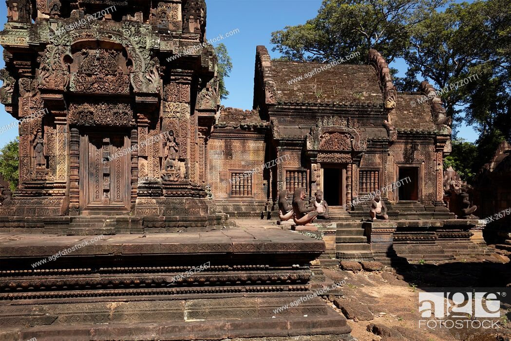 Stock Photo: Banteay Srei temple, Angkor, Siem Reap, Cambodia.