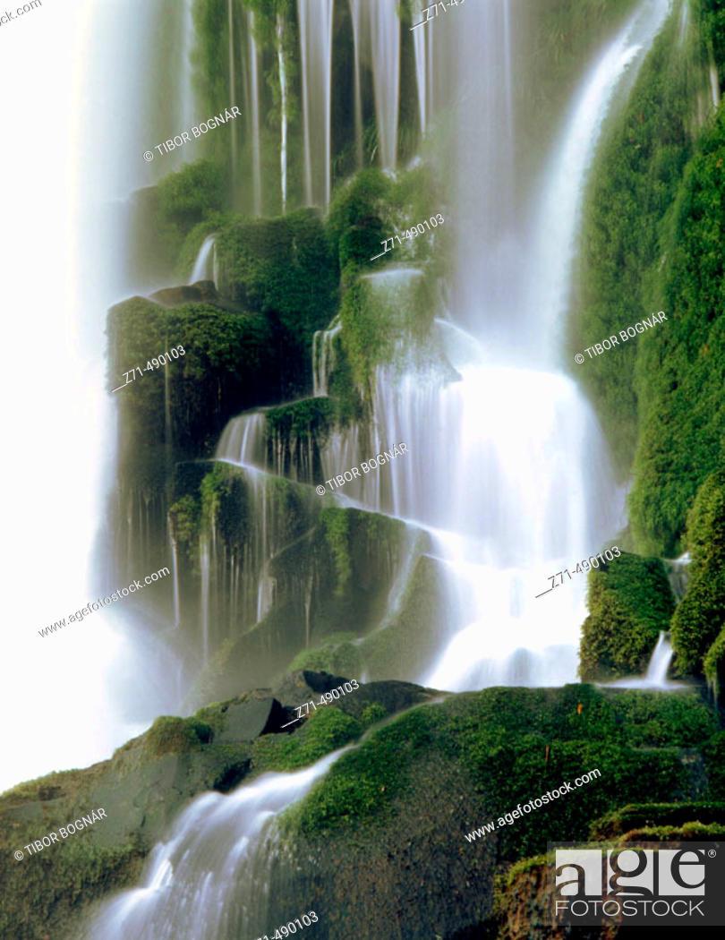 Stock Photo: Iguazu National Park Falls. Argentinian side, Misiones province, Argentina.