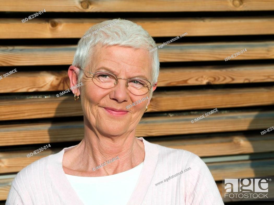 Stock Photo: Senior woman smiling.