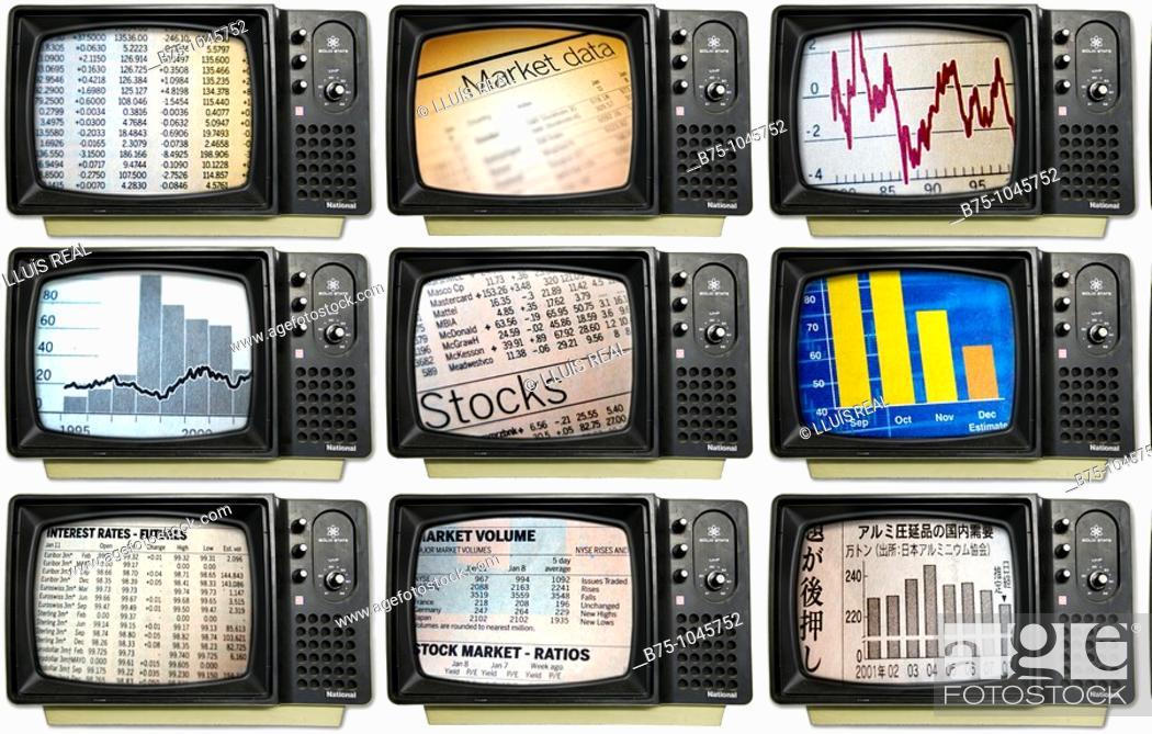 Stock Photo: Charts.