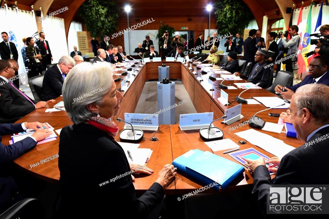 Imagen: (L-clockwise) IMF Managing Director Christine Lagarde, Ethiopia's Prime Minister Hailemariam Desalegn, Canada's Prime Minister Stephen Harper.