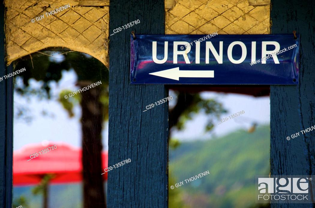 Stock Photo: Public Urinal sign.