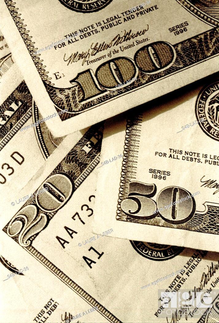 Stock Photo: Dollar Bills.