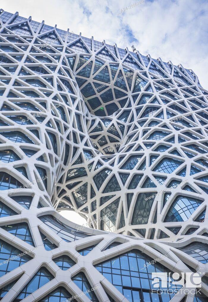 Stock Photo: China , Macao City, Taipa District, City of Dreams Casino.
