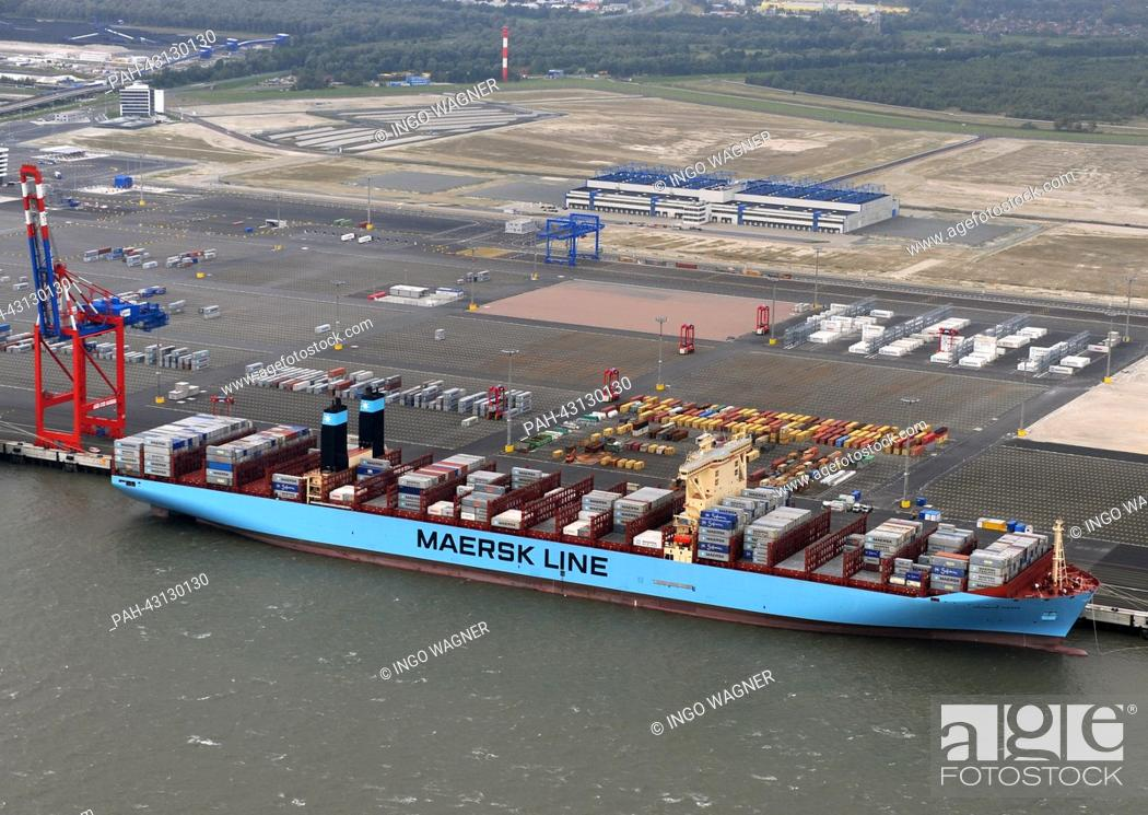The world's largest container ship 'Majestic Maersk' is