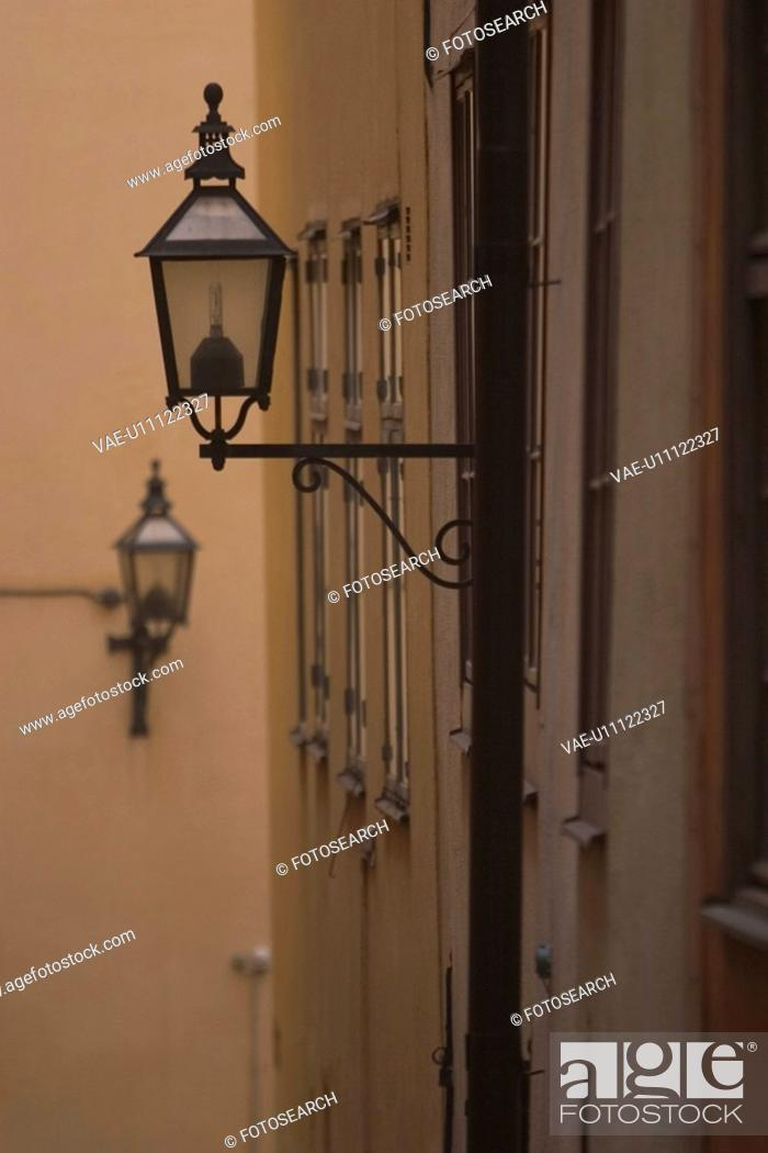 Stock Photo: streetlamp, illuminate, lamp, lighting, decorating, light.