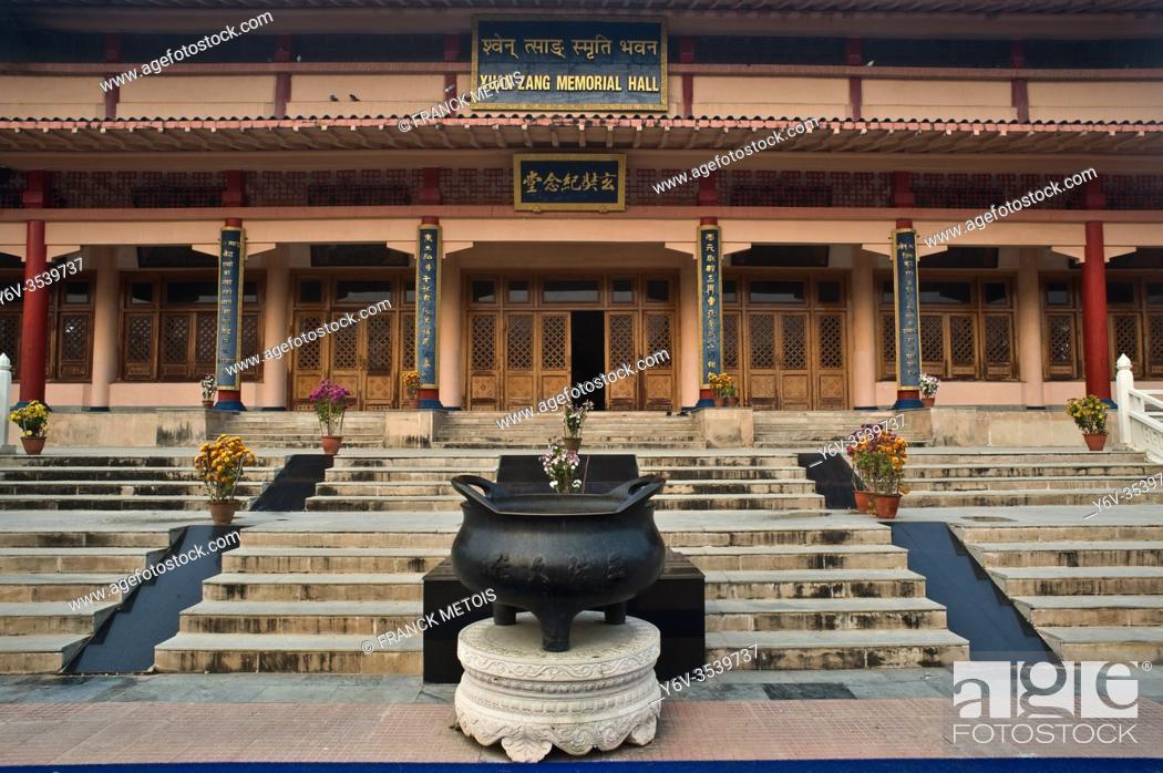 Stock Photo: Entrance of the Xuan Zang memorial hall at Nalanda ( Bihar, India).
