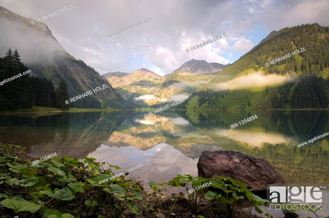 Stock Photo: Vilsalpsee Lake, Vils Valley, Ausserfern, Tyrol, Austria, Europe NON EXCLUSIVE USAGE FOR CALENDAR, 2015, TERRITORY: D, A, CH.