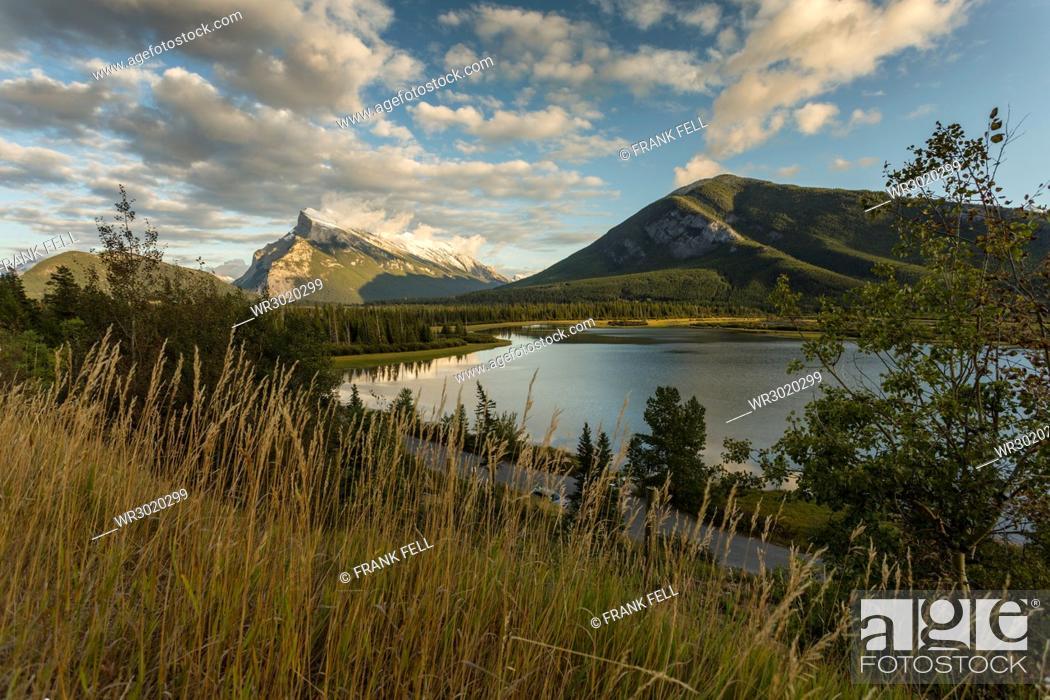 Stock Photo: Gathering winter storm, Banff National Park, UNESCO World Heritage Site, Canadian Rockies, Alberta, Canada, North America.