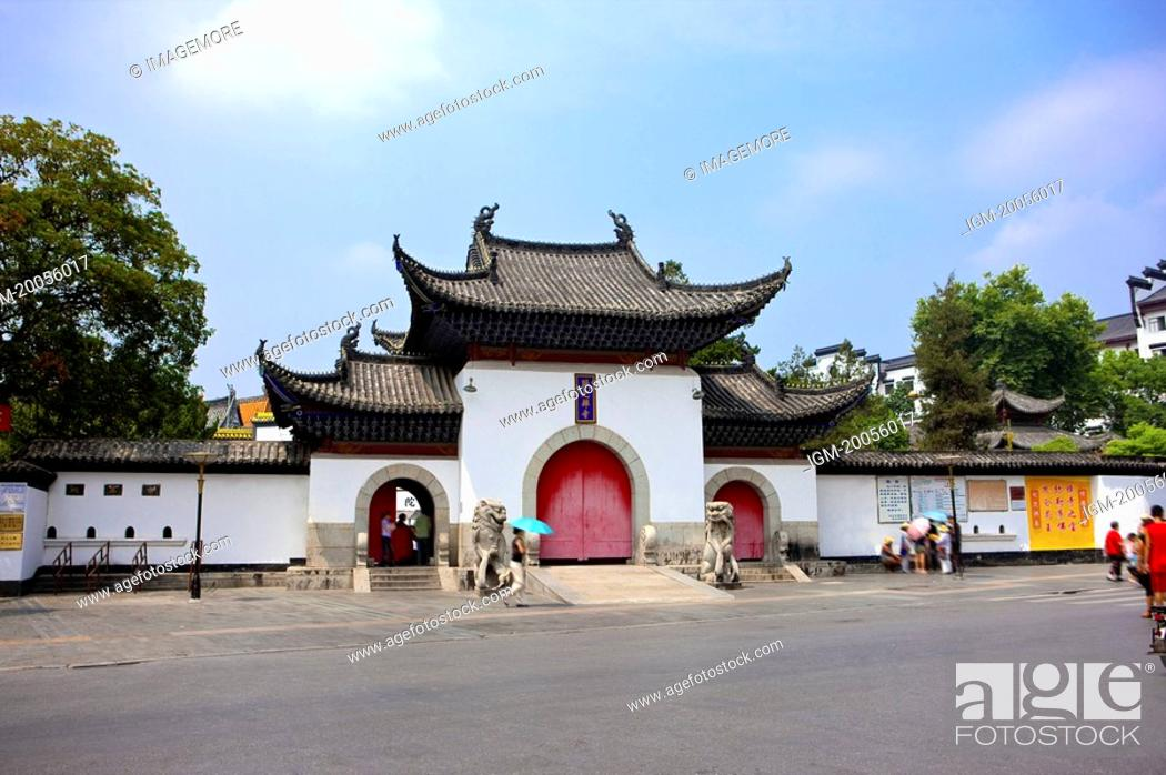 Stock Photo: China, Hubei Province, Wuhan, Hanyang, Guiyuan Temple.