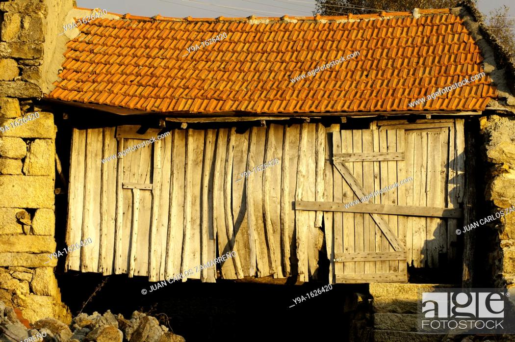 Stock Photo: Old traditional house at Castro Laboreiro, Peneda Geres National Park, Melgaco, Braga, Minho, Portugal.