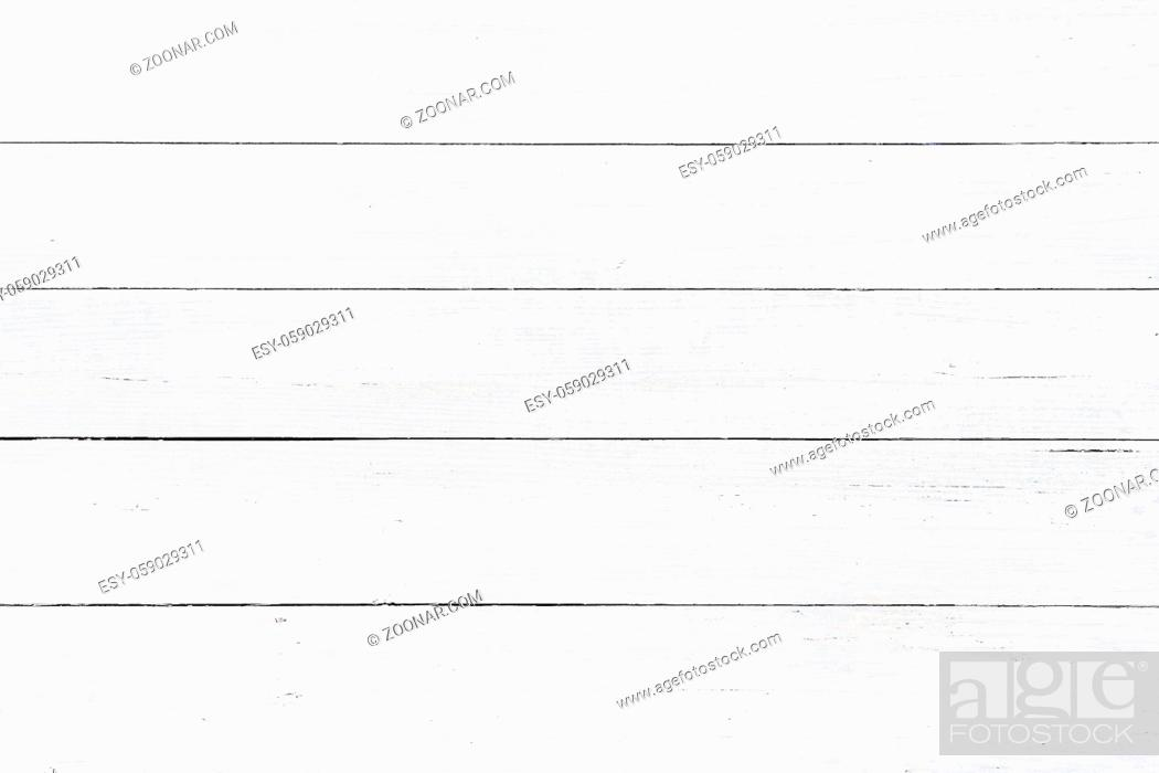 Stock Photo: white washed old wood background, wooden abstract texture.