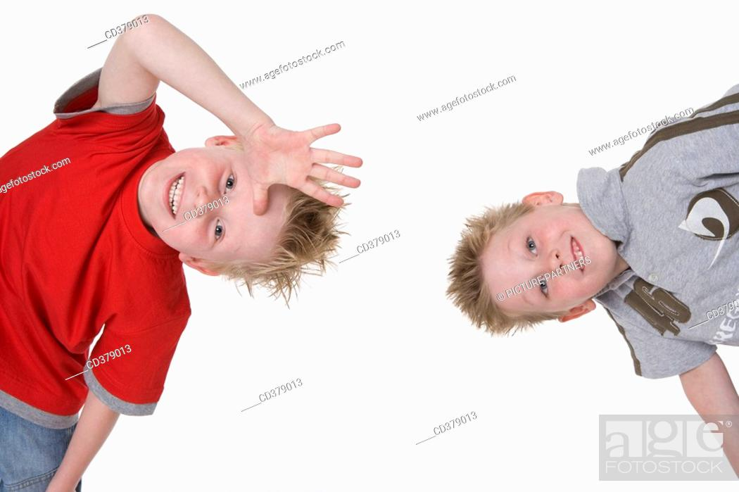 Stock Photo: Portrait of two boys.