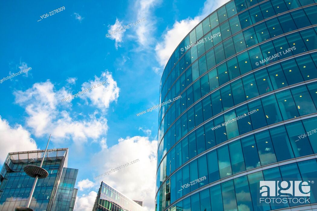 Stock Photo: Modern glass architecture, Southwark, on the south bank of the River Thames London, United Kingdom.