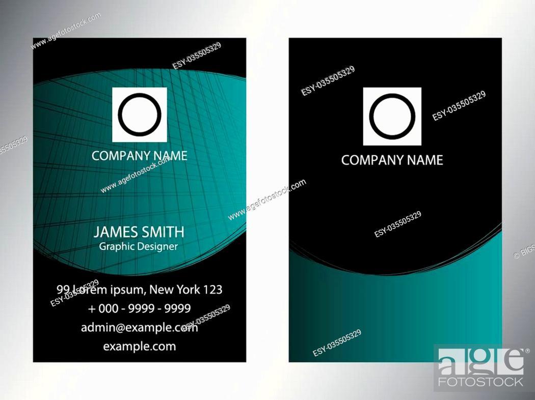 Stock Vector: Set of vertical business cards design.