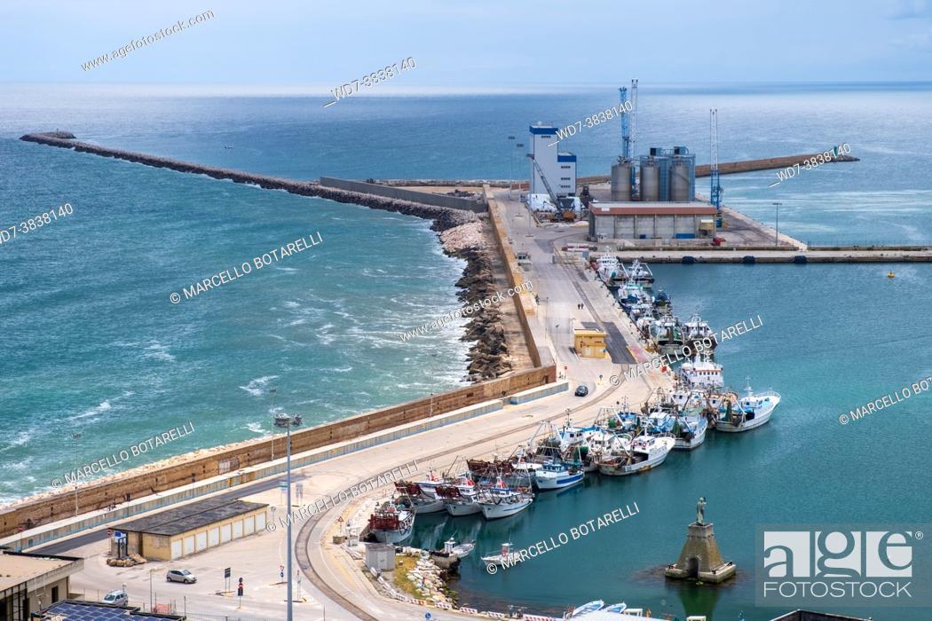 Stock Photo: view of the port of ortona, abruzzo, italy.